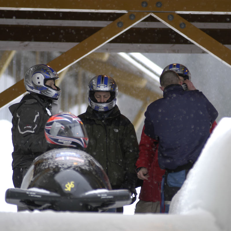 Bobsleigh is getting ready