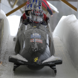 Picture of bobsleigh from the front