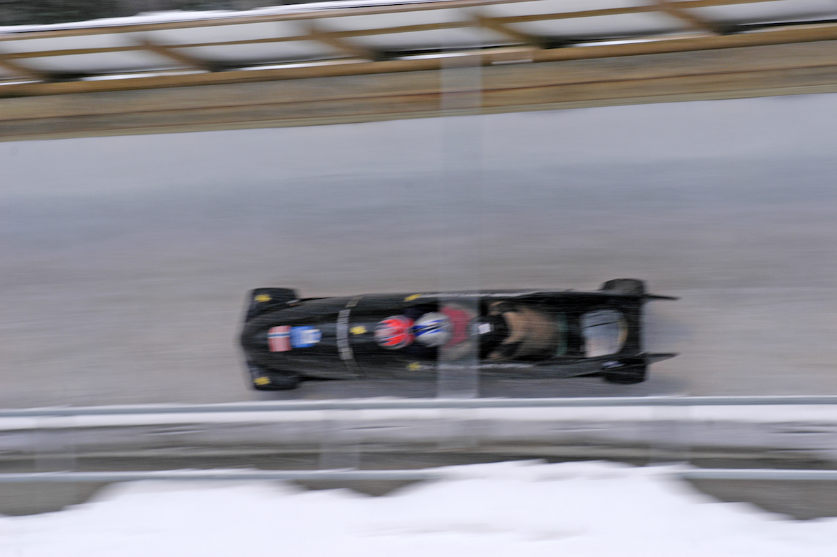 Picture of Bobsleigh in speed