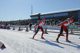 skiskyttere på birkebeineren skistadion