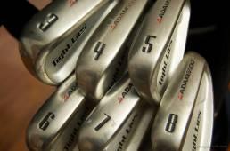 Seks golfkøller