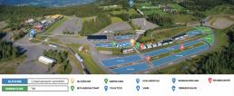 Kart over campingområde Birkebeineren skistadion